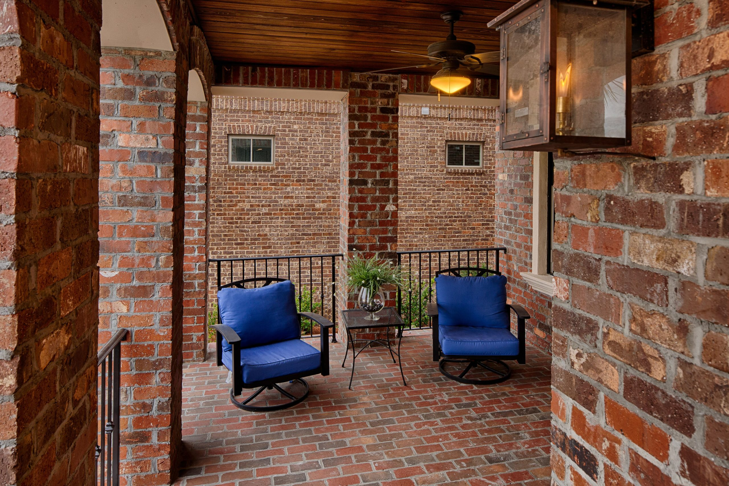 patio of townhome