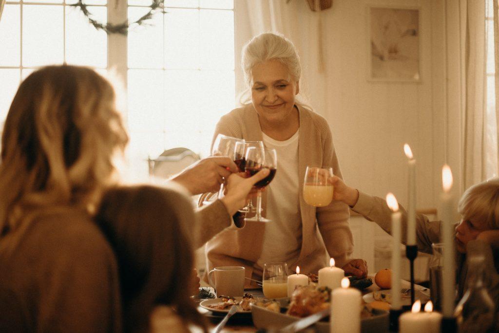 family gathering Thanksgiving