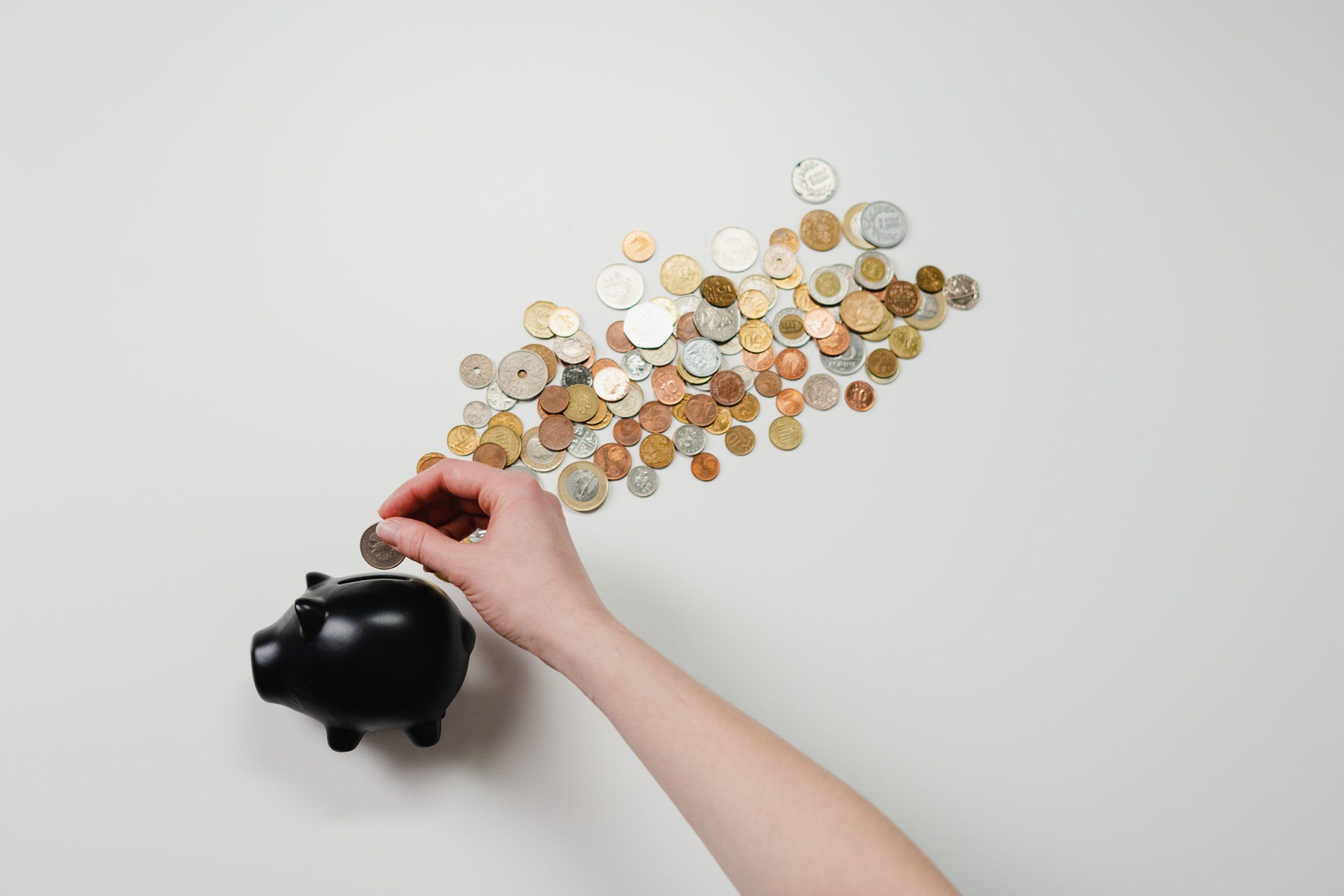 expensive piggy bank spending money