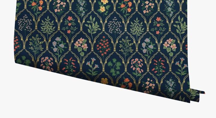 Rifle Paper Co. Hawthorne York spring wallpaper