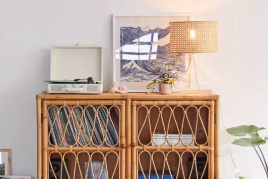 Urban Outfitters rattan cabinet