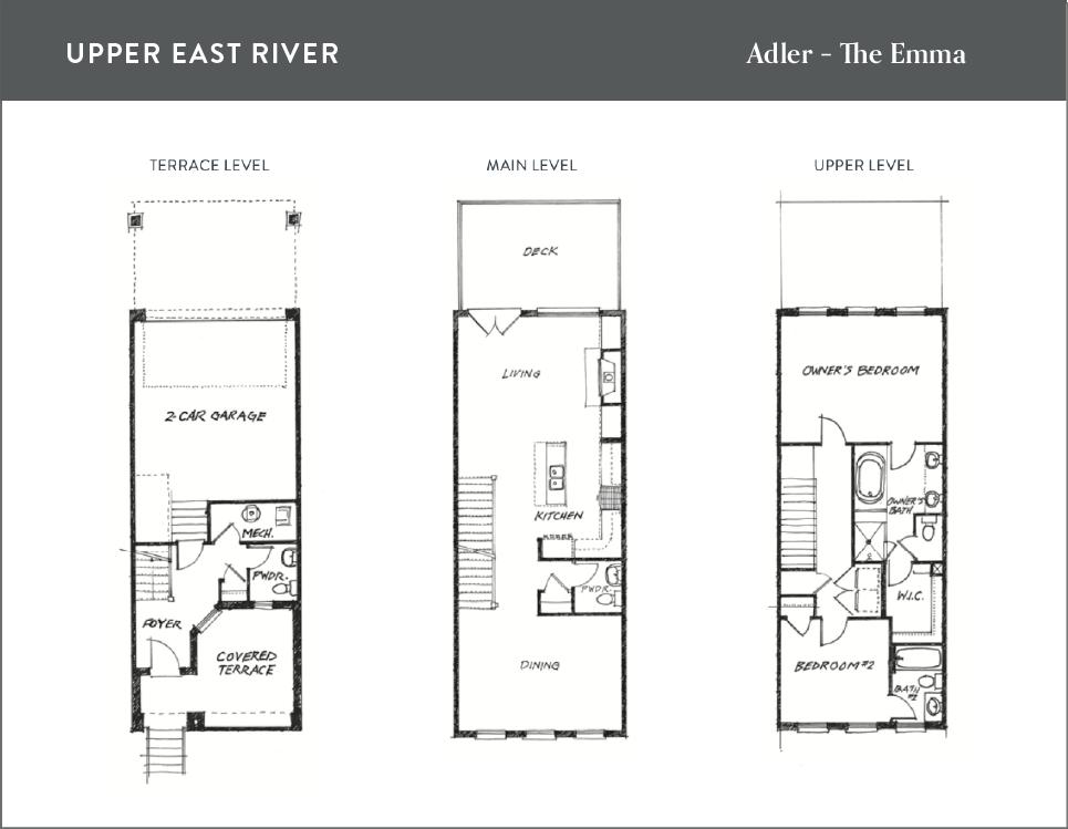 Floor plan for the Adler new home in Savannah, GA