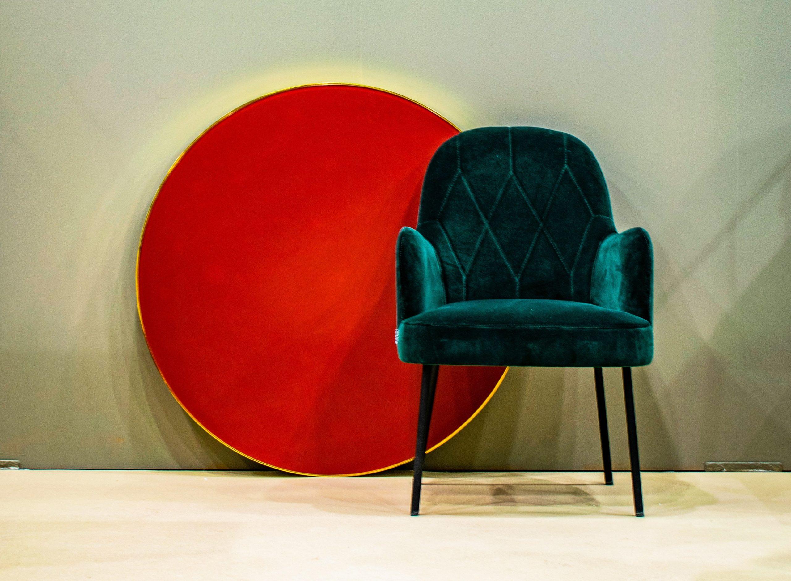 jewel-toned velvet chair