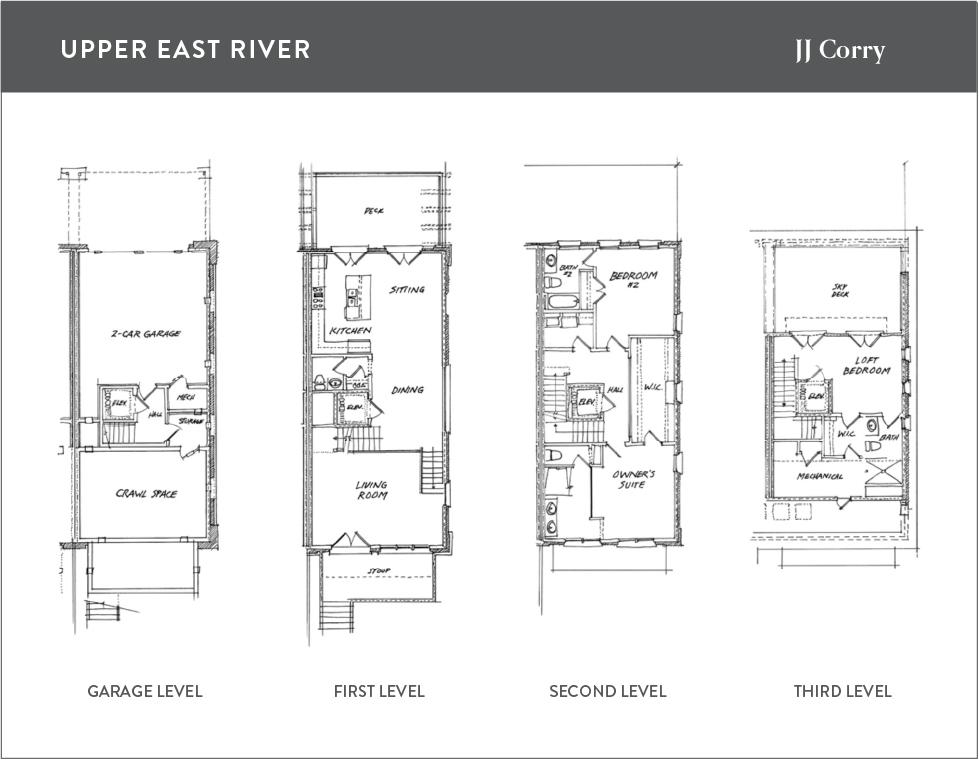 Floor plan for the JJ Corry model at Upper East River