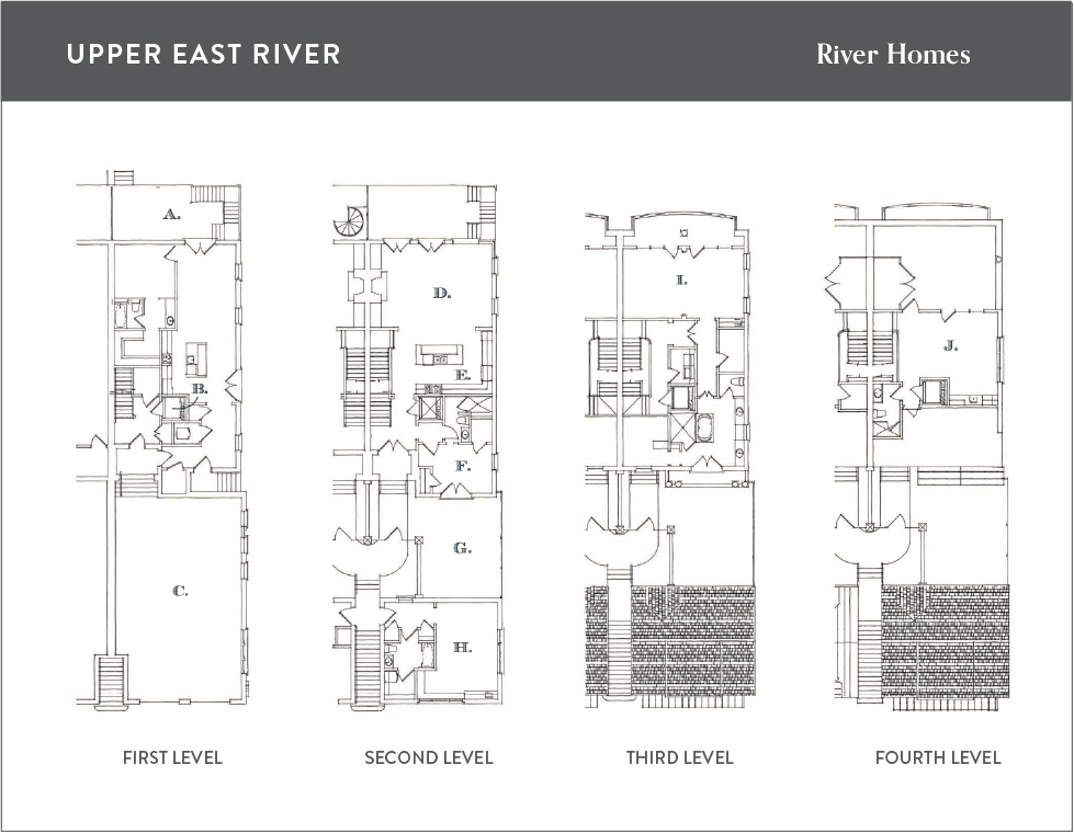 Floor plan for homes on the Savannah River