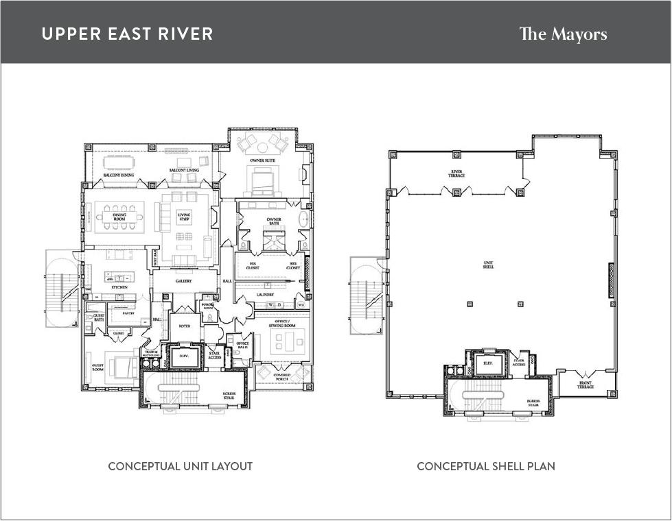 Penthouse floorpan for new homes in Savannah GA