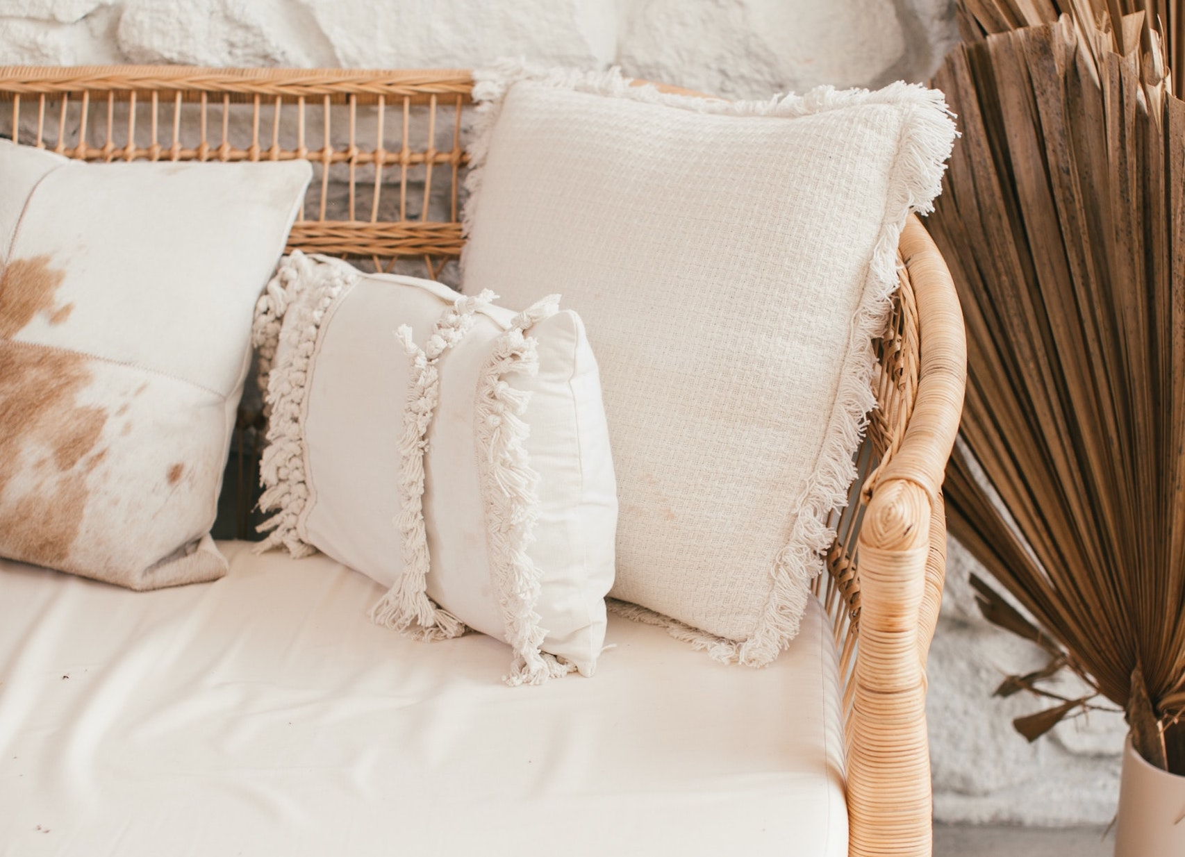 beautiful textiles pillows blankets couch luxury home