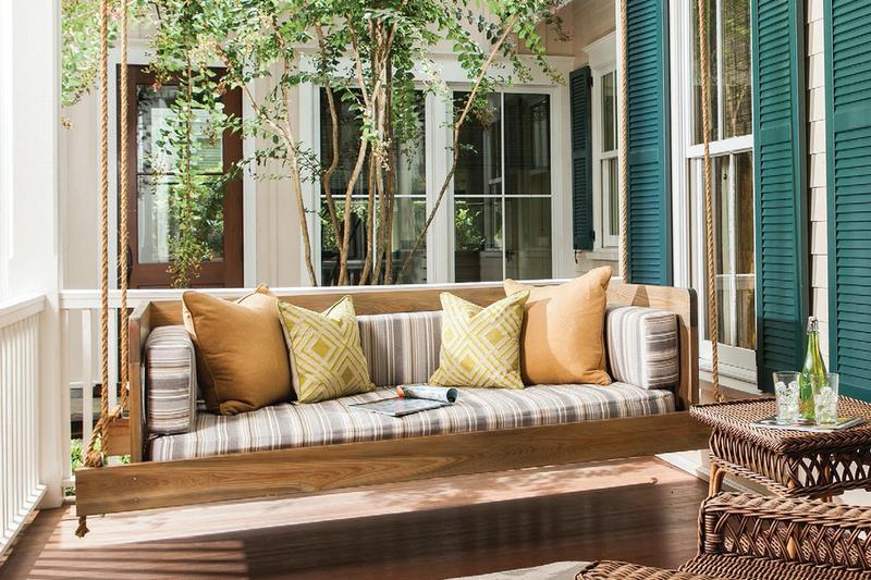 24e Design Co. swing chair luxury home design