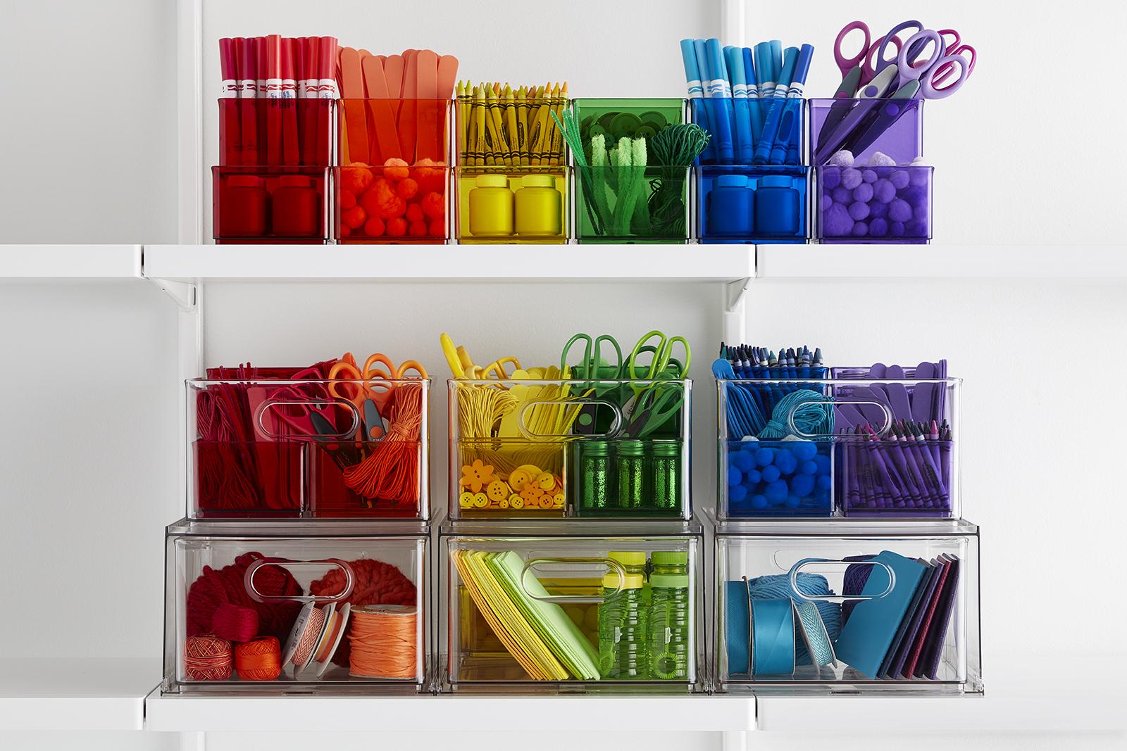 custom home organization color coordinated