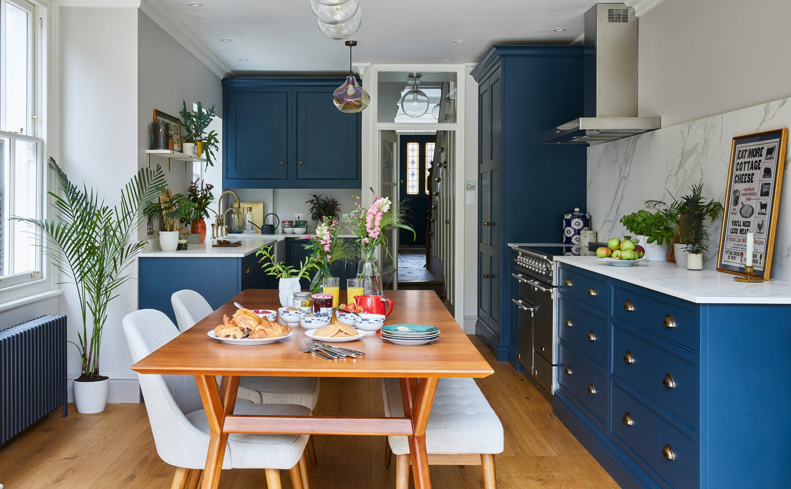 blue kitchen for your custom home