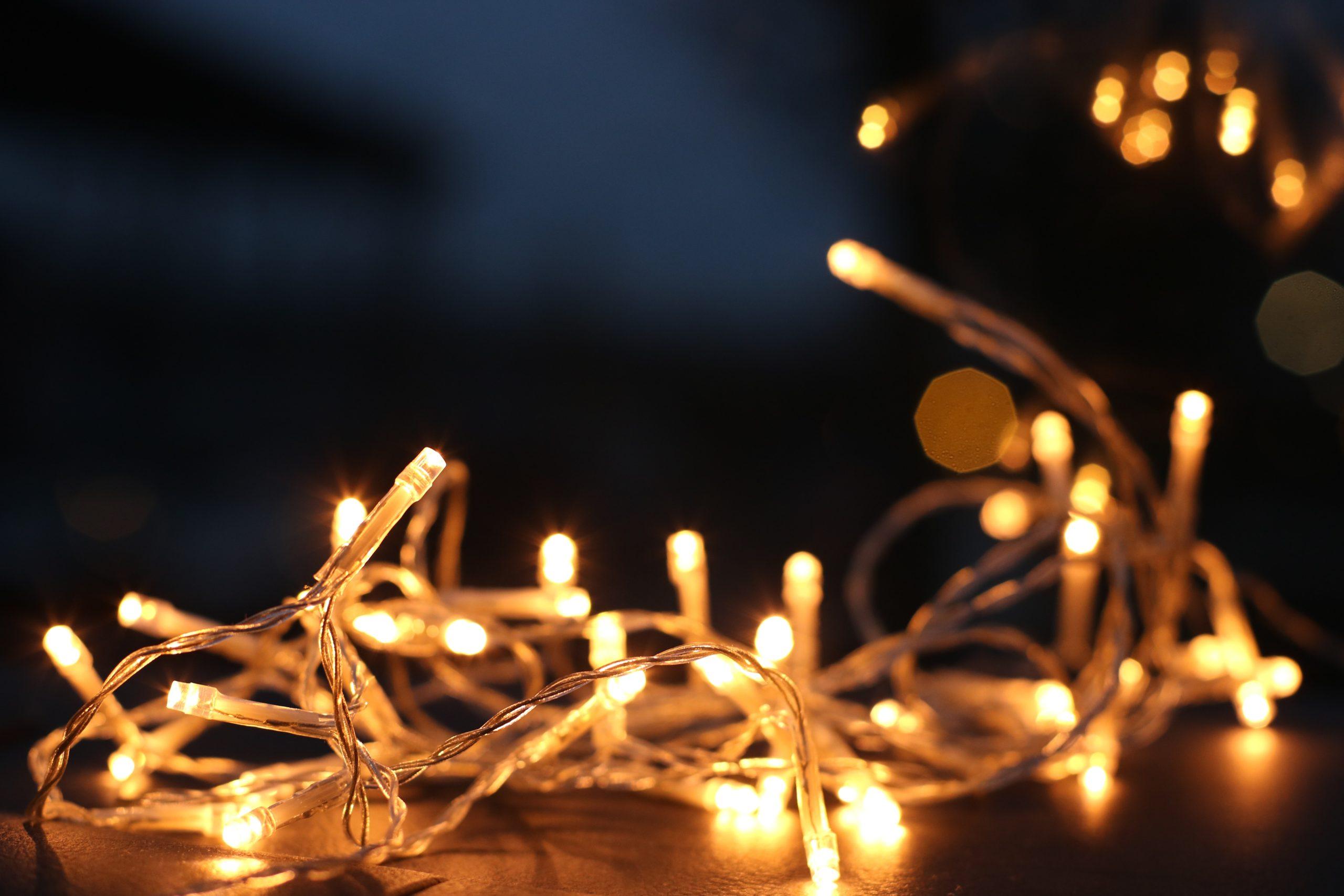twinkle lights for the fall season decor accessory