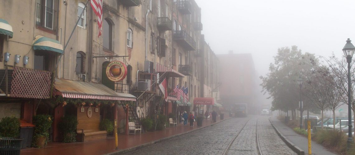 foggy spook Savannah street